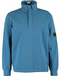 TK Maxx Blue Zipped Neck Sweatshirt - Metallic