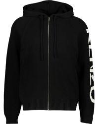 TK Maxx & White Logo Zipped Cardigan Hoodie - Black