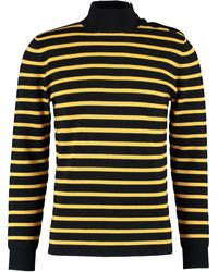 TK Maxx & Yellow Striped Wool Jumper - Black