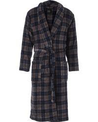 TK Maxx & Black Check Fleece Robe