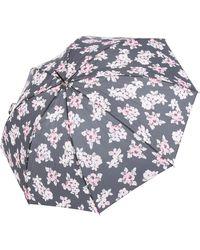 TK Maxx Uv Vintage Floral Parasol - Black