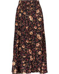 TK Maxx Floral Midi Skirt - Black