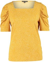 TK Maxx Spotted Top - Yellow
