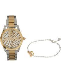 TK Maxx Silver & Tone Watch & Bracelet Set - Metallic