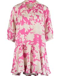 TK Maxx & White Satin Abstract Dress - Pink