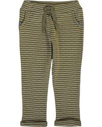 TK Maxx Khaki Striped Joggers - Green