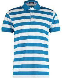 & White Striped Polo Shirt
