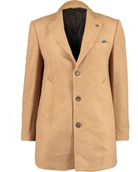 TK Maxx Camel Button Up Overcoat - Brown