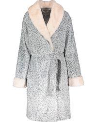 TK Maxx Animal Print Plush Robe - Grey