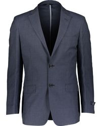 TK Maxx Pinstripe Linen Blend Blazer - Blue