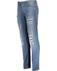 TK Maxx Distressed Tapered Jeans - Blue