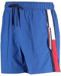 TK Maxx Royal Logo Stripe Swim Shorts - Blue
