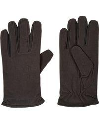 TK Maxx Brown Suede Gloves - Metallic