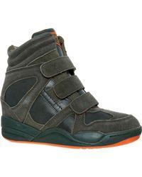 TK Maxx Khaki Wedge Velcro Trainers - Green