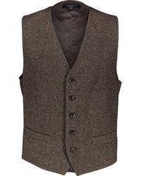 TK Maxx Wool Waistcoat - Brown