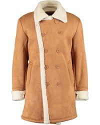 TK Maxx Fleece Overcoat - Brown