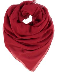 TK Maxx Plain Silk Scarf - Red