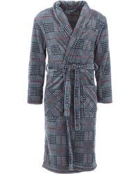 TK Maxx Grey Chequered Robe