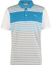 TK Maxx & White Striped Polo Shirt - Blue