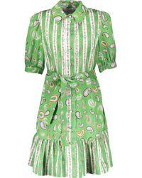 TK Maxx Green Paisley Shirt Dress - Metallic