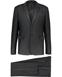 TK Maxx Satin Stripe Suit - Black