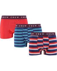 TK Maxx Three Pack Ed Striped Boxers - Blue