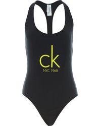 TK Maxx Racer Back Logo Swimsuit - Black