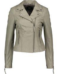 TK Maxx Ghost Leather Jacket - Grey