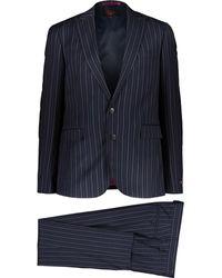 TK Maxx Pinstripe 3 Piece Suit - Blue