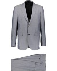 TK Maxx Two Piece Wool Blend Slim Suit - Metallic