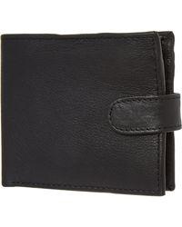 TK Maxx Leather Tab Wallet - Black