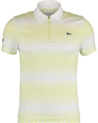 White & Striped Polo Shirt