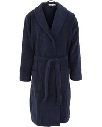 TK Maxx Hooded Terry Dressing Gown - Blue
