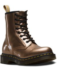 Dr. Martens 1460 Vegan Chrome Rose Gold Chrome Paint - Metallic