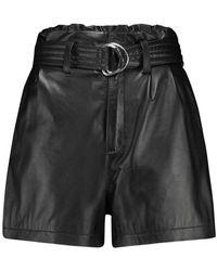 Catwalk Junkie Short Pants Jane Real Black Leather - Zwart