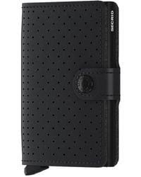 Secrid Miniwallet Perforated Black - Zwart