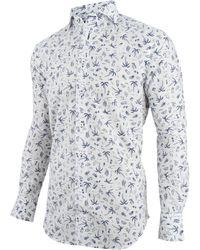 Cavallaro Overhemd Print Palma 1091021-10003 - Wit