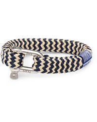 Pig & Hen P09-63203 Armband Bombay Barry Navy-sand Silver - Blauw