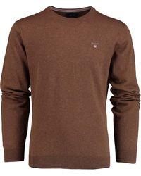 GANT Wool V-neck 83101/294 - Bruin