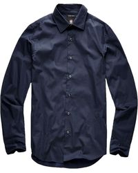 G-Star RAW Raw Core Super Slim Shirt Ls Lange Mouw - Blauw
