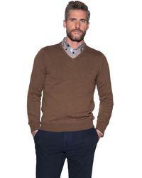 Campbell Pullover V-hals - Bruin