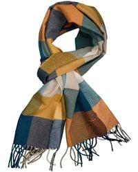 GANT Multi Check Wool Scarf 9920051/860 - Blauw