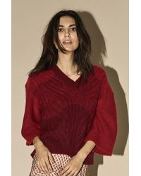 Mos Mosh 134750 Jenner Cable Knit - Rood