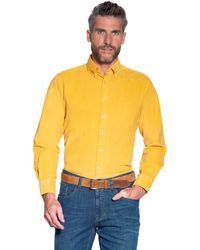 Campbell Casual Overhemd Met Lange Mouwen - Geel