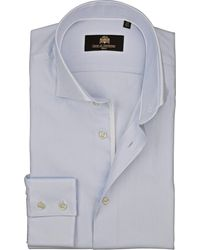 Circle Of Gentlemen Heren Overhemd Burak Licht Oxford Slim Fit - Blauw