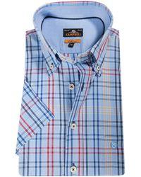 Campbell Casual Overhemd Met Korte Mouwen - Rood