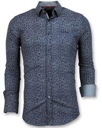 Gentile Bellini Slim Fit Overhemd Mannen - Blauw