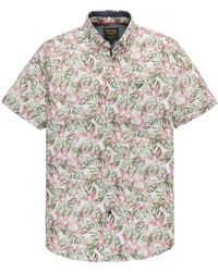 PME LEGEND Psis202245 3068 Short Sleeve Shirt Jersey With All-over Print Spiced Coral - Rood