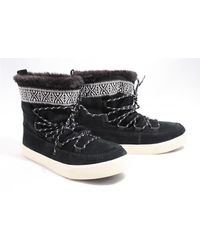 TOMS Waterafstotende Zwarte Suède Alpine Boots