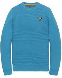 PME LEGEND Pkw201300 5177 Crewneck Cotton Knit Dresden Blue - Blauw
